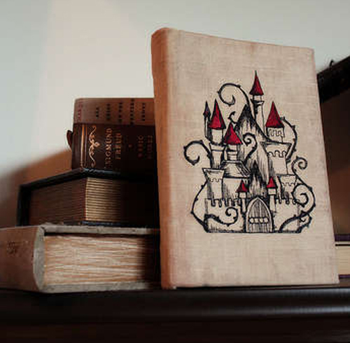 Antique embroidered book cover.