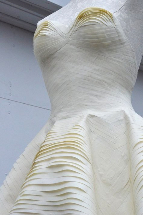 Masking tape dress.